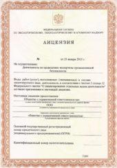 Лицензия на проведение экспертизы промышленной деятельности