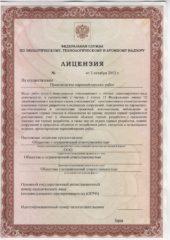 Лицензя на производство маркшейдерских работ